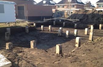 Uitgraven bouwputten
