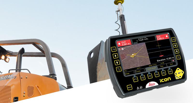 3D GPS machinebesturing