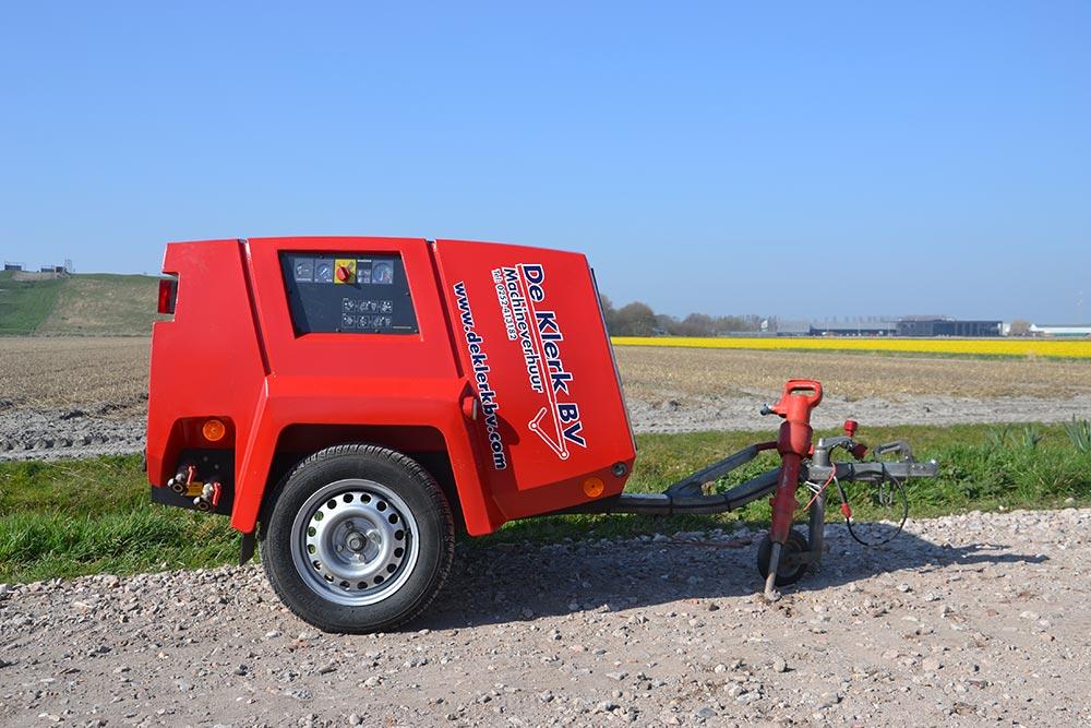 Mobiele compressor Sloophamer